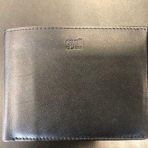 Cavalli Class Leather Black Men's Wallet
